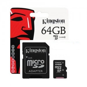 Cartão Micro-SD 64GB Classe 10 HC Kingston