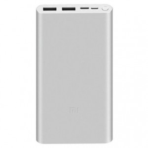 Powerbank Xiaomi Mi Bank 3 10.000mAh Prata